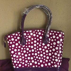 Handbags - Too Cute New Patent Polka Dot Bag